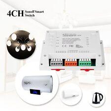DIY Sonoff 4CH 4Way WiFi Wireless Smart Switch Module ABS Shell Socket