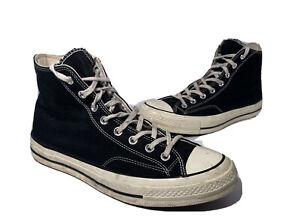 Converse Chuck Taylor All Star 70 High 142334C Hi BLACK WHITE MEN'S SIZE 10.5