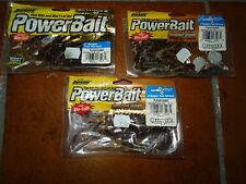 """3 BUSTE BERKLEY POWERBAIT 4"""" BUNGEE TWIN TAIL GRUB - PUMPKINSEED"""