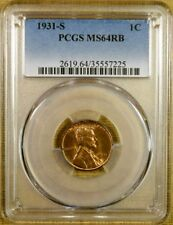 1931-S PCGS MS64 RB Lincoln Cent