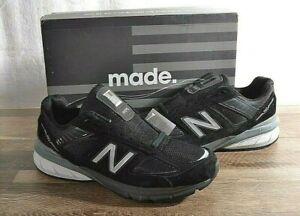 Men's New Balance 990v5 Running Shoe 9 D MED Black M990BK5 USA Made Sneakers
