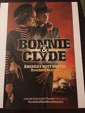 BONNIE & AND CLYDE Window Card Poster Jeremy Jordan (SUPERGIRL) Laura Osnes