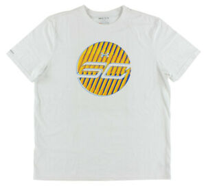 Under Armour Court Tee Mens Knits & Tees Size L, Color: White/Yellow