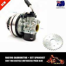Racing Carburetor Carb W/32T 32 Tooth Rear Sprocket For 49cc 80cc Motorized Bike