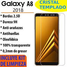CRISTAL TEMPLADO PROTECTOR DE PANTALLA PARA SAMSUNG GALAXY A8 2018 VIDRIO 9H