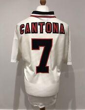CANTONA *7   Manchester United 1996/97 Away Football Shirt Jersey (XL) Man Utd