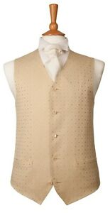 """waistcoat gold DIAMOND CHEST SIZE 44""""  FROM ONLY £2"""