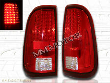 08 09 10-16 FORD F250 F350 F450 SUPER DUTY RED/CLEAR TAIL LIGHTS W/ LED NEW
