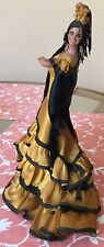 Vintage Spanish Flamenco Dancer Plastic Composition Doll, Beautiful Face