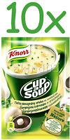 10 x KNORR Champignon Cup a Soup Instant Soup with Croutons