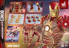 1/6 Hot Toys Iron Man 3 MMS412 2017 BONES Mark XLI 41 Retro Armour Sideshow