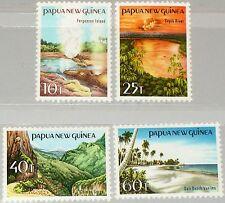 PAPUA NEUGUINEA NEW GUINEA 1985 487-90 610-13 Landschaften Landscapes Waterfall