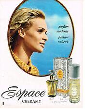 PUBLICITE  1968   CHERAMY  parfum ESPACE