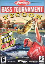 BASS TOURNAMENT TYCOON Berkley Fishing PC Game NEW BOX!