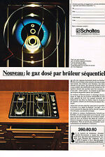 PUBLICITE ADVERTISING  1981   SCHOLTES    éléctroménager