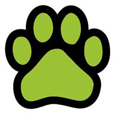 Lime Green PAW car magnet  ***QUALITY***