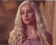 Emilia Clarke Autographed 8x10 Game of Thrones Daenerys Targaryen Photograph