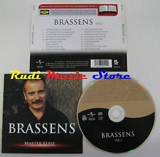 CD BRASSENS MASTER SERIE 2003 UNIVERSAL BIOGRAFIA NO lp mc dvd vhs