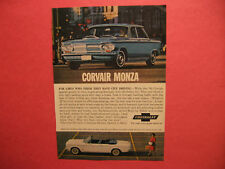 May 1963 Reader's Digest Ad for 1963 Corvair Monza