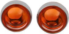 Kuryakyn - 2268 - Deep Dish Bezels with Amber Lenses, Pair - Honda, 49-5626
