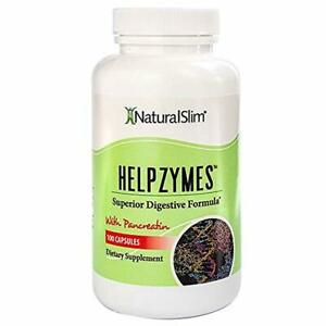 NaturalSlim Superior Digestive Enzymes with HLC Acid and Pancreatin Formulated b