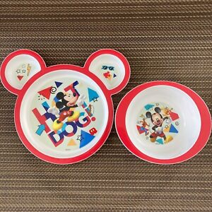 Disney The First Years Baby Mickey Mouse Feeding Set EUC ~ FREE SHIPPING!
