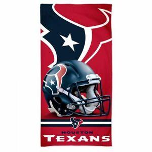"HOUSTON TEXANS SPECTRA BEACH TOWEL 30""X60"" COTTON PLUSH NFL LICENSED"