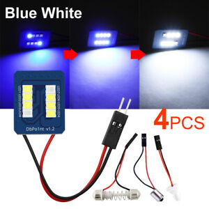 4X T10 LED Bulb 8SMD Panel Blue White BA9S Festoon Car Interior Dome Trunk Light
