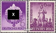 Duitse Rijk 818,819 met gomstrook 1942 Sport, Henlein