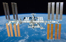 Framed Print - International Space Station in Earth's Orbit (Picture Poster Moon