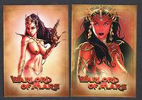 ALBUM BINDER PROMO CARD SET: WARLORD OF MARS (BREYGENT/2012) PROMO 1 &2