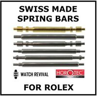 2 X SWISS MADE SPRING BARS FOR ROLEX WATCH ALL TYPES HOROTEC HAND MADE 18 TYPES