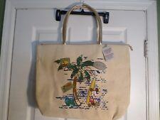 NEW  Disney Store Mickey Mouse Hawaiian Print Beach Bag/Bag