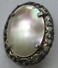 Oval MIRACLE Mother of Pearl Pewter BROOCH