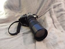 Vintage Asahi Pentax ME 35mm Camera with Long Telescopic Lens