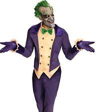 Adult Mens Deluxe The Joker Costume Super Villain Batman Arkham City