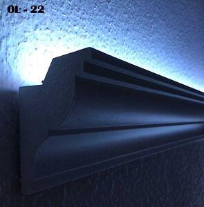 20 Mètre LED Moulage Blanc Moulure en Stuc Pour Indirect Éclairage XPS OL-22