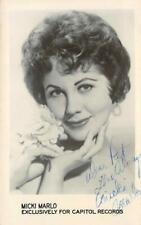 RPPC MICKI MARLO Capitol Records Singer Autograph c1950s Vintage Postcard