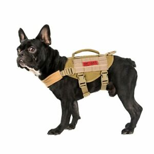 NEW Small Sized Vest Walking Hiking Hunting Tactical Training Harness for Dog