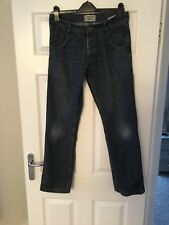 Crafted Men's Blue Jeans W32 L32 Straight Cotton