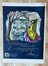 Original Print Ad 1950 AVON COSMETICS Vintage Artwork