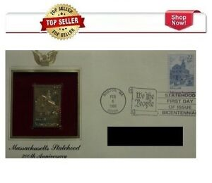 Postal Commemorative Society Massachusetts Statehood 200th Anniversary stamp