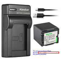 Kastar Battery Slim Charger for Panasonic CGA-DU21 CGR-DU21 & PV-GS36 PV-GS39