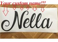 Custom Name Wall Sticker 3D Personalized Kids Girls Boys Names Decal Home Decor
