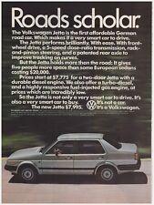 Original 1985 Volkswagen Jetta Roads Scholar Vintage Print Ad