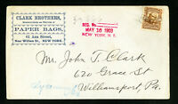 US 1903 Clark Brothers Advertising Stamp Cover