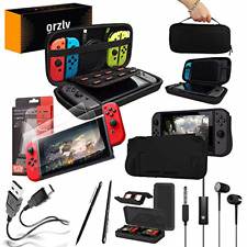 Orzly Switch Accessories Ultimate Pack for Nintendo Switch - Black