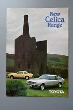Sales Sheet Brochure: Toyota Celica Feb 1980 & 81 price List 1.6 2.0