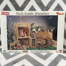 Voila Wooden Toy Castle Furniture S 525G 24 pcs Bed Fireplace Throne table bench