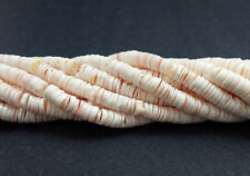 Pink Luhuanus Shell Heishi Beads (4 - 5 mm , 24 Inches Strand)
